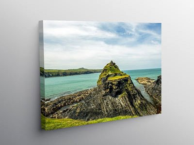 Abereiddy Bay north Pembrokeshire Coast, Canvas Print