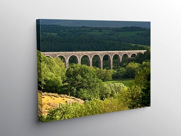 Cynghordy Railway Viaduct Carmarthenshire Mid Wales, Canvas Print