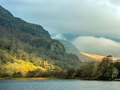 Llyn Gwynant and Mountains Snowdonia