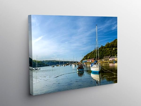 Abergwaun Harbour on a Calm Evening, Canvas Print