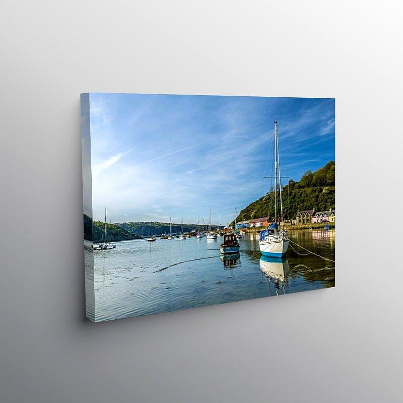 Abergwaun Harbour on a Calm Evening Pembrokeshire, Canvas Print
