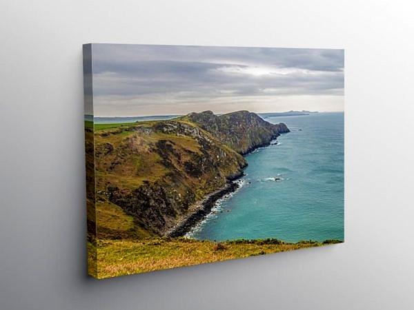Pwll Deri and Cliffs North Pembrokeshire, Canvas Print