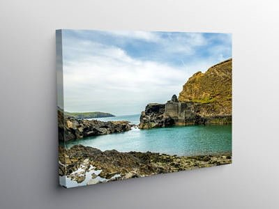 The Blue Lagoon Abereiddy north Pembrokeshire, Canvas Print