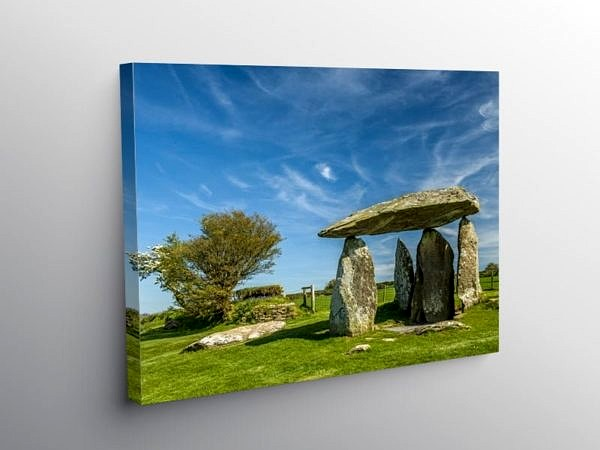 Pentre Ifan Burial Chamber Preseli Hills Pembrokeshire, Canvas Print