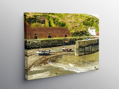 Porthgain Harbour on the Pembrokeshire Coast, Canvas Print