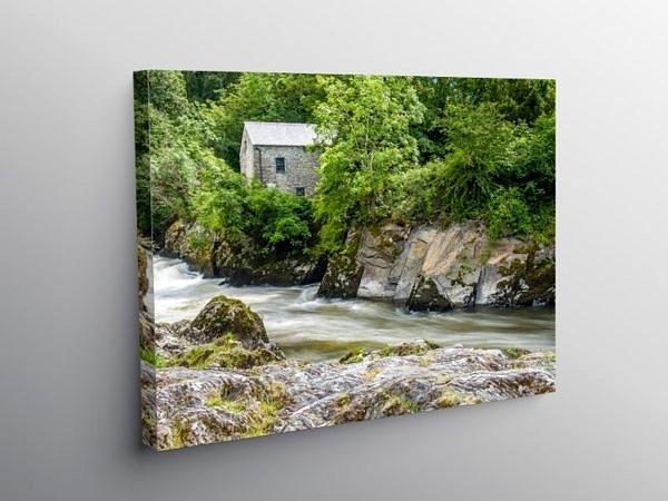 Cenarth Falls River Teifi Carmarthenshire, Canvas Print