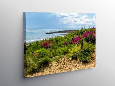 Port Eynon Beach on the Gower Peninsula, Canvas Print