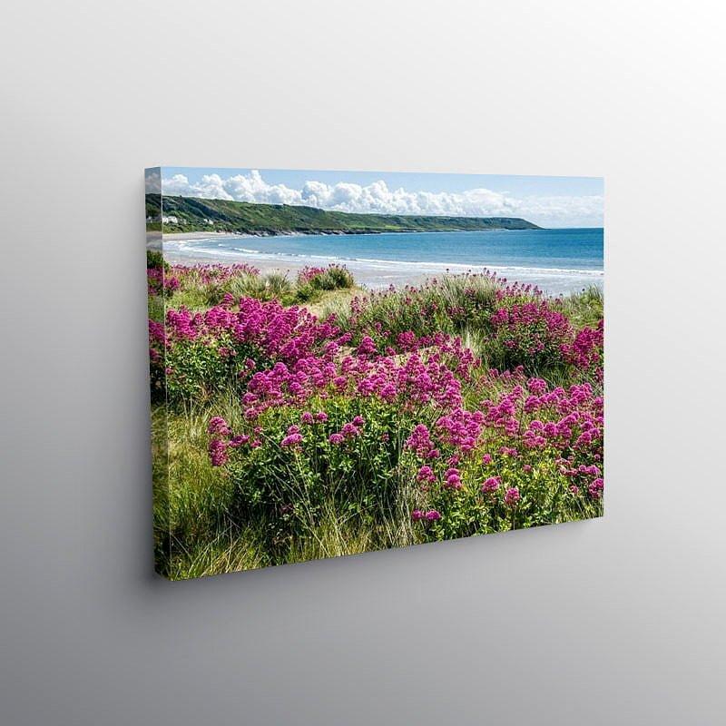 Port Eynon Beach on Gower, Canvas Print