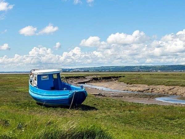 The Lougher Estuary and Blue Boat Gower