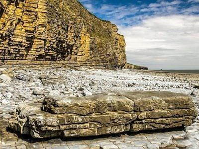Llantwit Major Beach and Cliffs