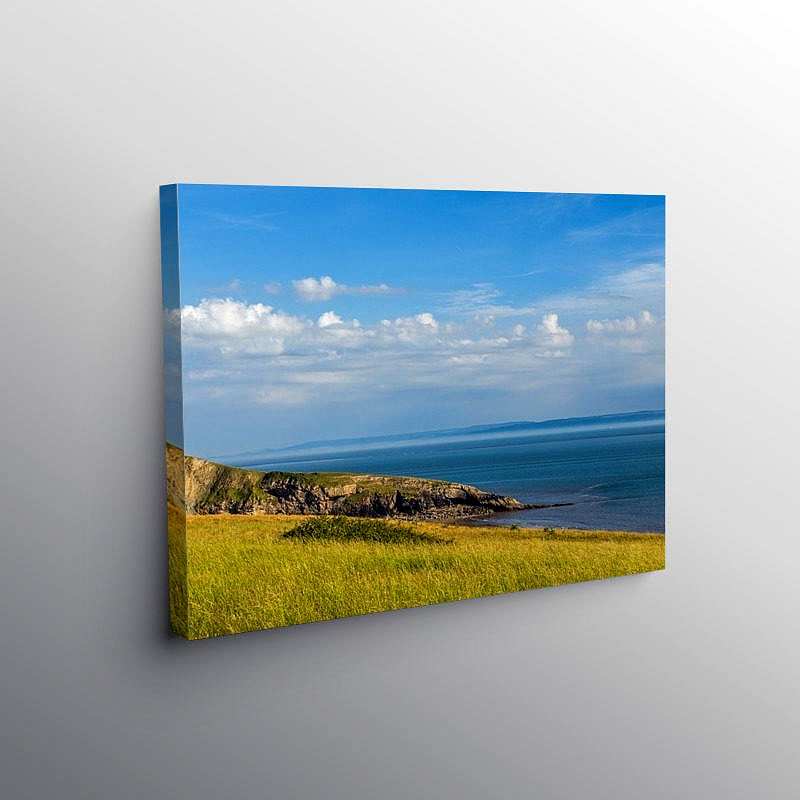 Looking down on Dunraven Bay, Canvas Print