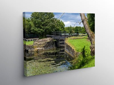 The Vale of Neath canal near Resolven, Canvas Print