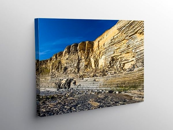 Limestone Cliffs Nash Point, Canvas Print