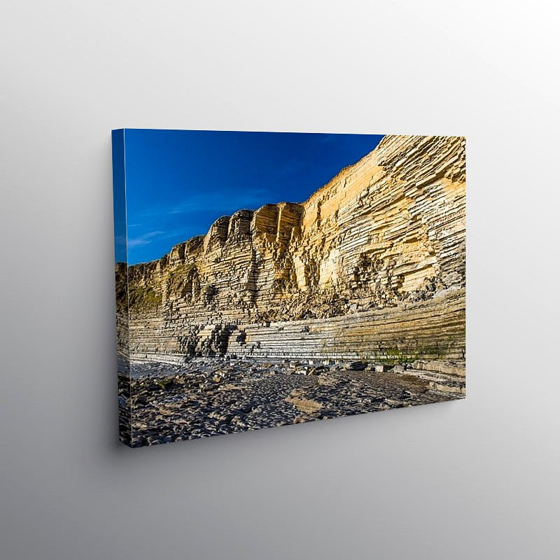 Limestone Cliffs Nash Point Glamorgan Heritage Coast, Canvas Print