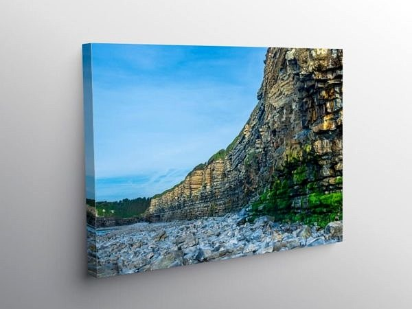 Rhoose Beach and Cliffs Vale of Glamorgan, Canvas Print