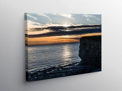 Sunset Nash Point Beach, Canvas Print