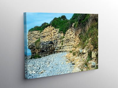 The coast at Rhoose Glamorgan Coast, Canvas Print