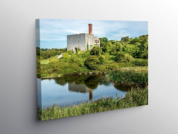Aberthaw Nature Reserve and Old Limeworks, Canvas Print
