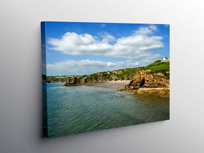 Settlands Beach Little Haven Pembrokeshire, Canvas Print