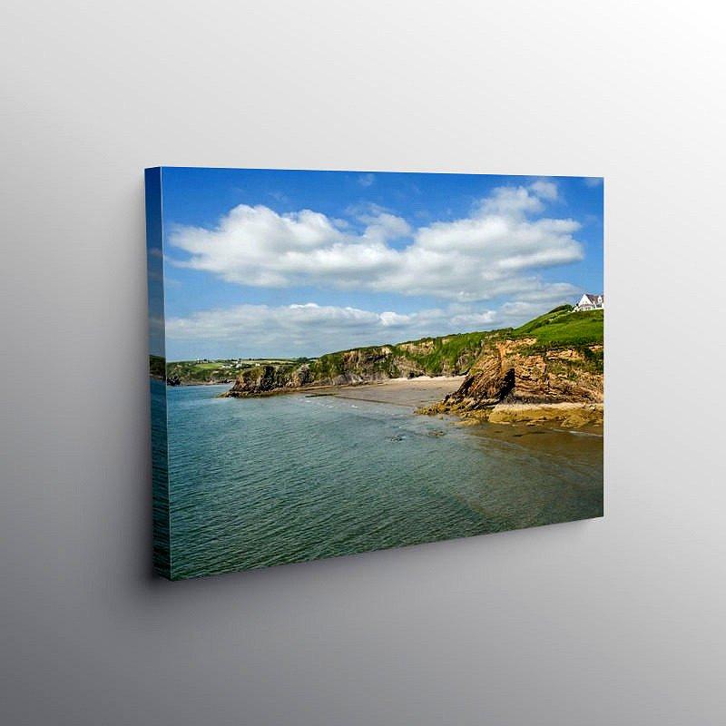 Settlands Beach Little Haven Pembrokeshire, Canvas Print