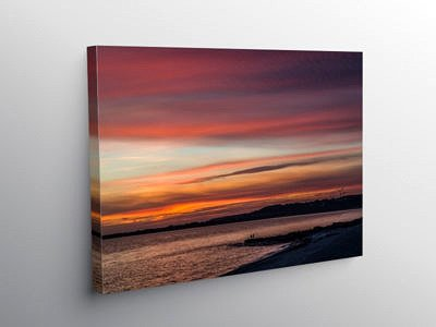 Ogmore Estuary at Sunset, Canvas Print