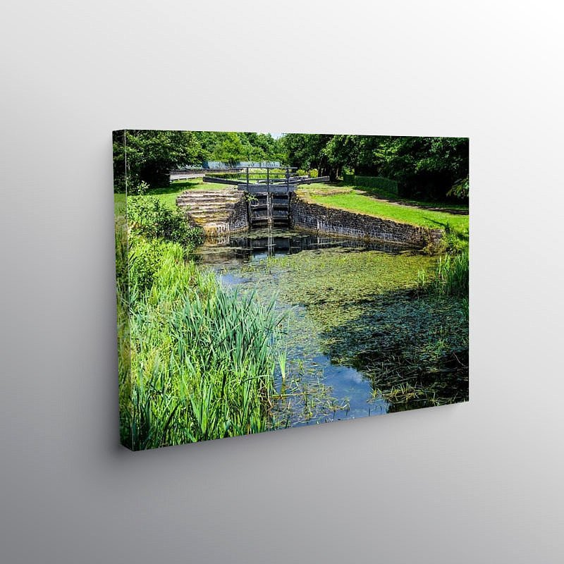 Lock Gate on the Neath Canal, Canvas Print