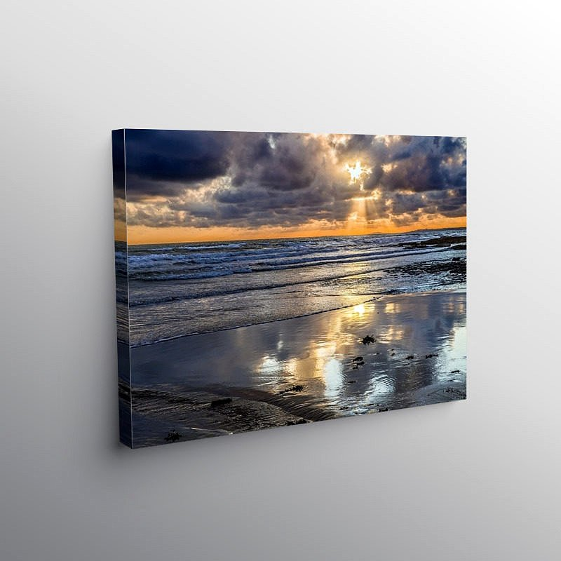 Sunset at Dunraven Bay Southerndown, Canvas Print