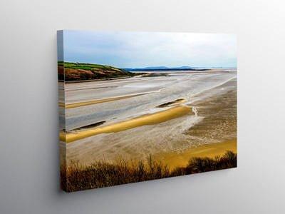 Tywi Estuary and Cefn Sidan Sands, Canvas Print