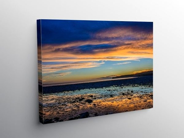 Evening Light at Llantwit Major Beach, Canvas Print
