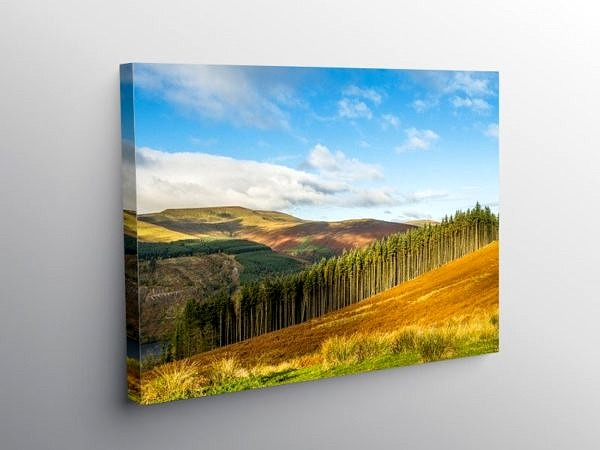 Waun Rydd across the Talybont Valley, Canvas Print