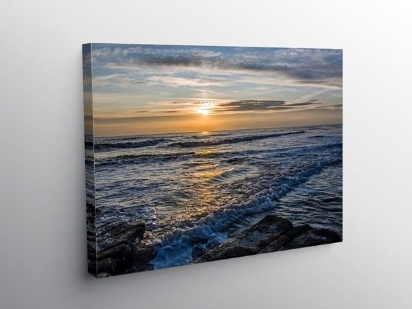 Sunset at Nash Point Glamorgan Heritage Coast, Canvas Print