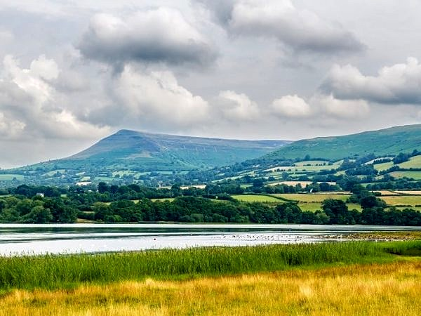 Mynydd Troed and Llangorse Lake Brecon Beacons