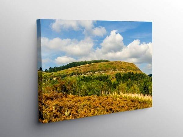 Pen Pych above Blaencwm Rhondda, Canvas Print
