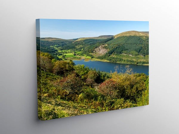Brecon Beacons Looking up the Talybont Valley, Canvas Print