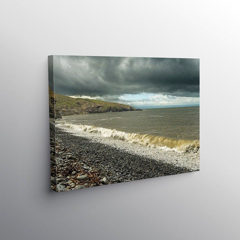 The Breaking Wave Dunraven Bay Glamorgan Heritage Coast, Canvas Print