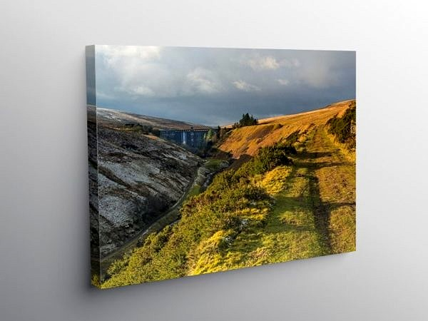 The Upper Grwyne Fawr Valley Black Mountains, Canvas Print