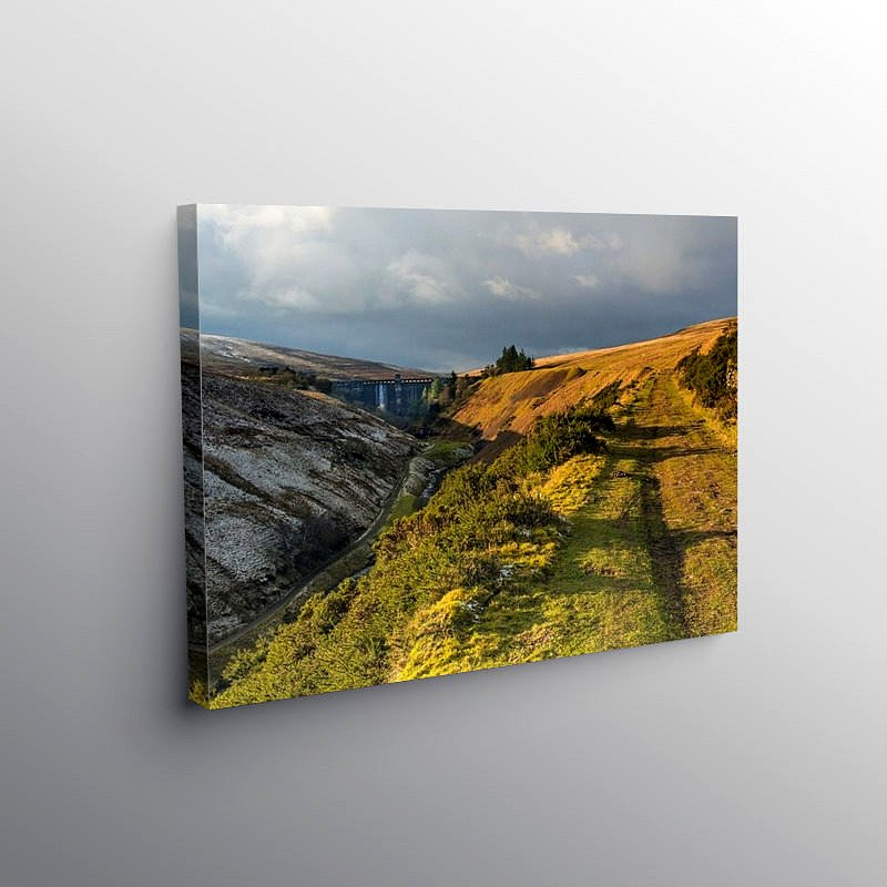 The Upper Grwyne Fawr Valley, Canvas Print