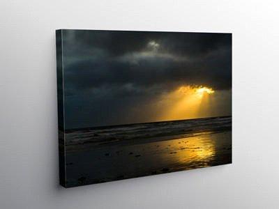 Sunburst through the Clouds, Canvas Print