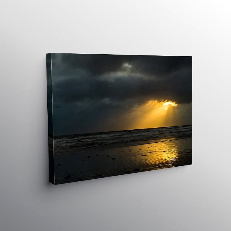 Sunbeams through the Clouds Dunraven Bay, Canvas Print