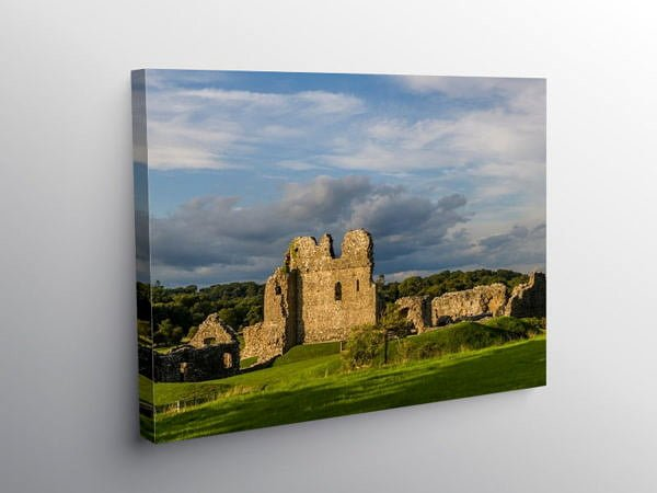 Ogmore Castle Ogmore by Sea, Canvas Print