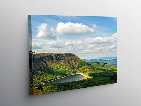 Craig y Llyn and Reservoir, Canvas Print