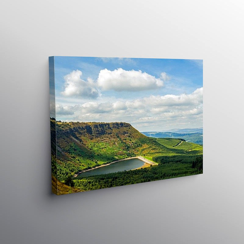 Craig y Llyn and Reservoir Rhigos, Canvas Print