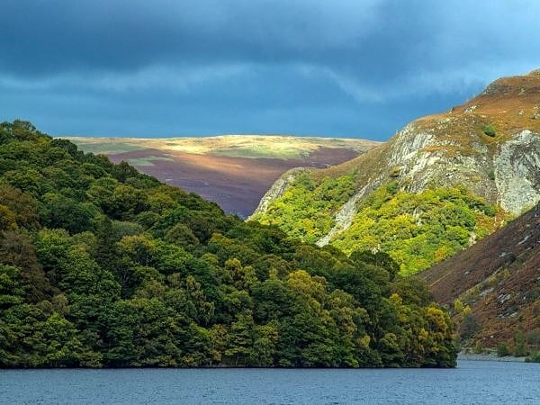 Garreg Ddu Reservoir in the Elan Valley