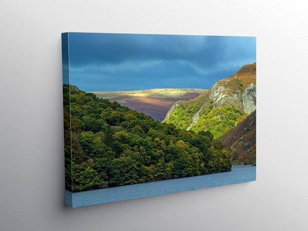 Garreg Ddu Reservoir in the Elan Valley, Canvas Print
