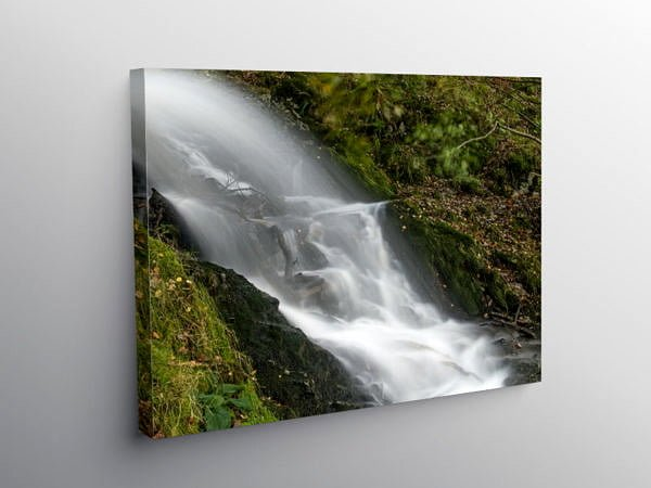 Waterfall Garreg Ddu Reservoir Elan Valley, Canvas Print