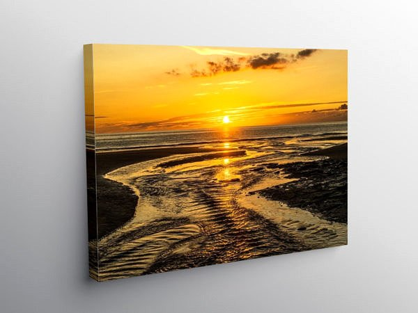 Dunraven Bay Sunset South Wales Coast, Canvas Print