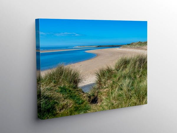 Beach at Burry Port Carmarthenshire, Canvas Print