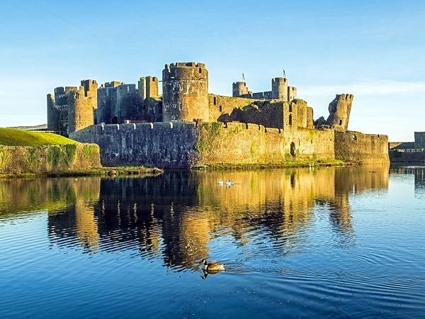 Caerphilly Castle On a January Morning