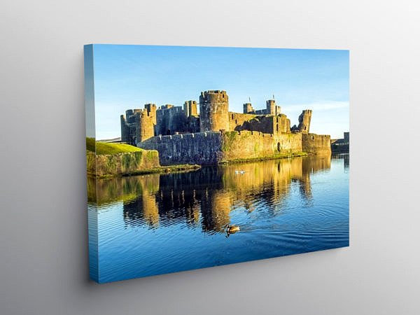 Caerphilly Castle On a January Morning, Canvas Print