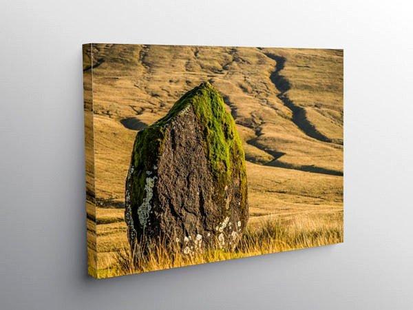 Maen Llia Standing Stone Brecon Beacons, Canvas Print